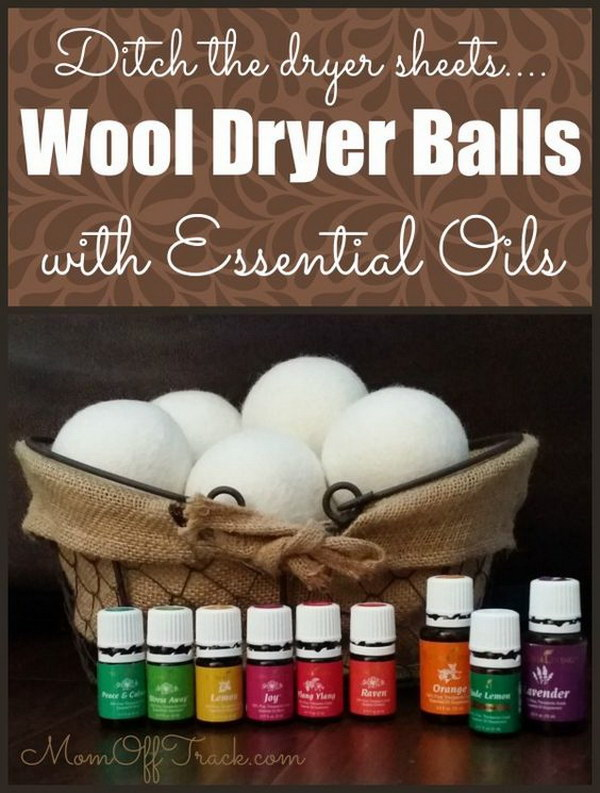 Wool Dryer Balls With Essential Oils.