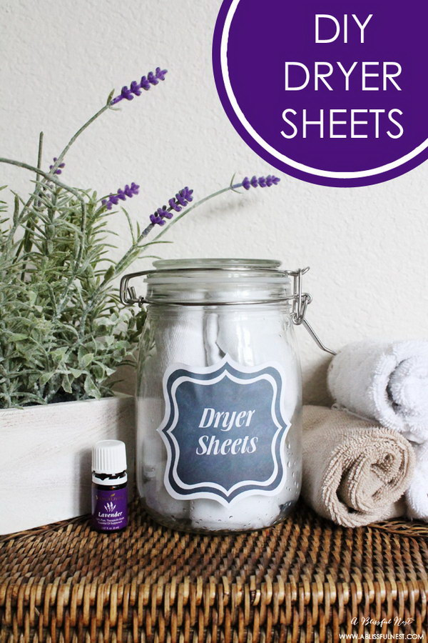 DIY Dryer Sheets with Free Printables.