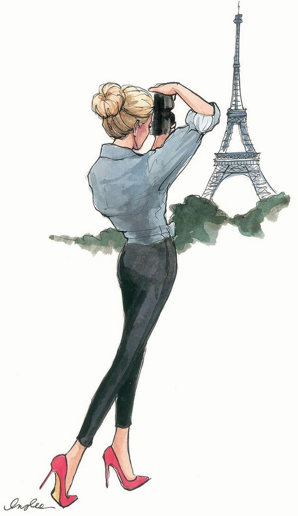 Paris Fashion Sketch.