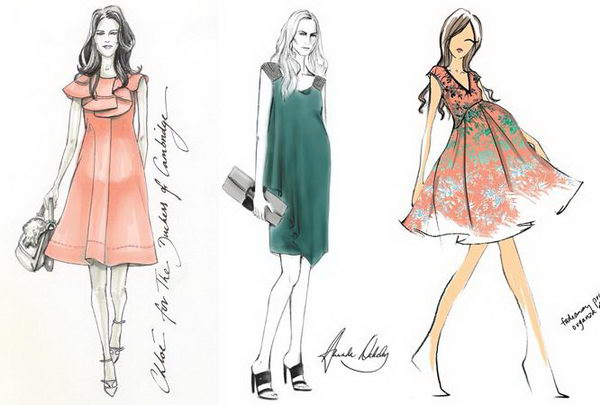 Kate Middleton Fashion Sketch.