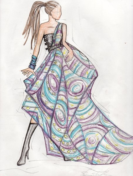 African Fashion Sketch.