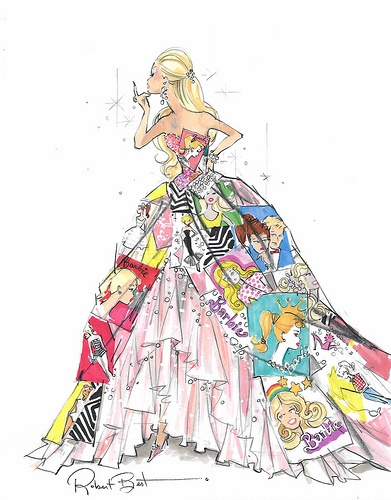 Barbie Fashion Sketch.