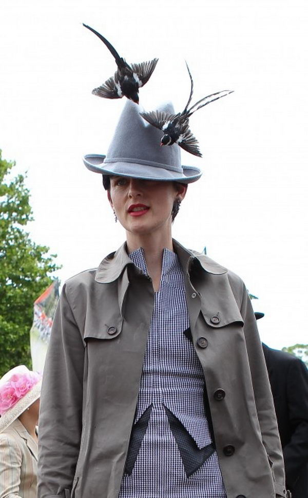 Kentucky Derby hats that are known for their vivacious colors and wildly extravagant size.