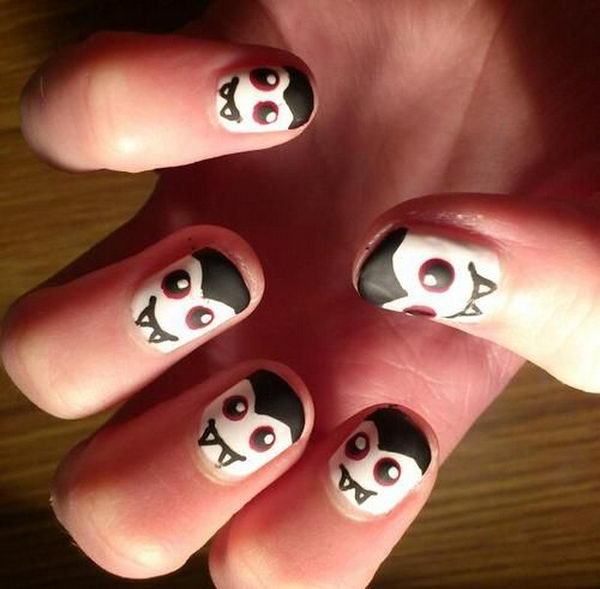 Halloween Nail. Cool Halloween Nail Art which show off your spooky spirit during the freakish festivities.