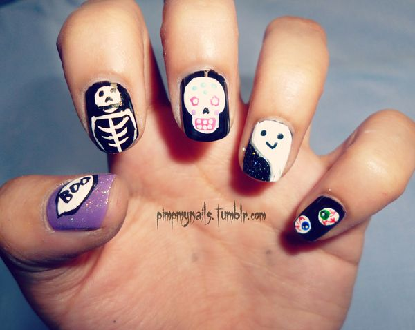 Halloween Nail Ideas. Cool Halloween Nail Art which show off your spooky spirit during the freakish festivities.