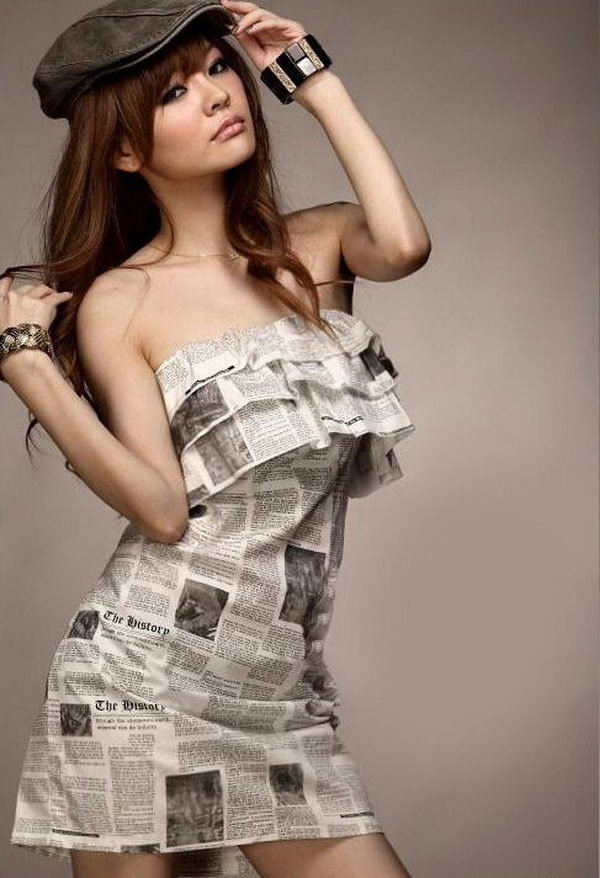20 Creative Newspaper Craft Fashion Ideas Styletic