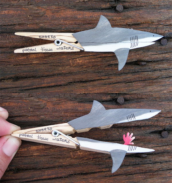Moveable shark craft.