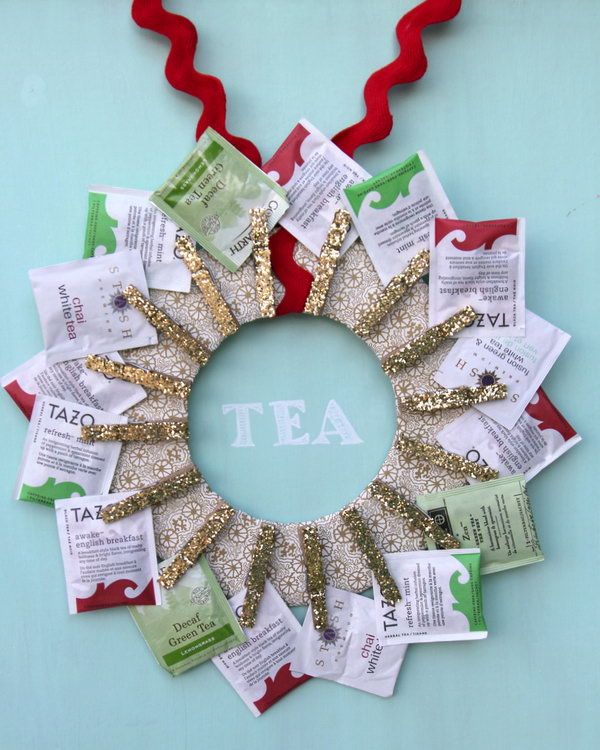 Kitchen tea wreath.