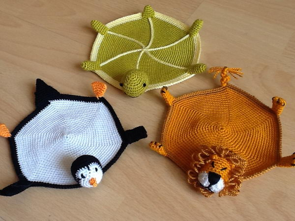 Animal Knitting Coasters.