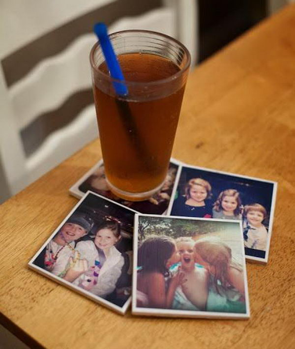 Pesonalized Photo Coasters.