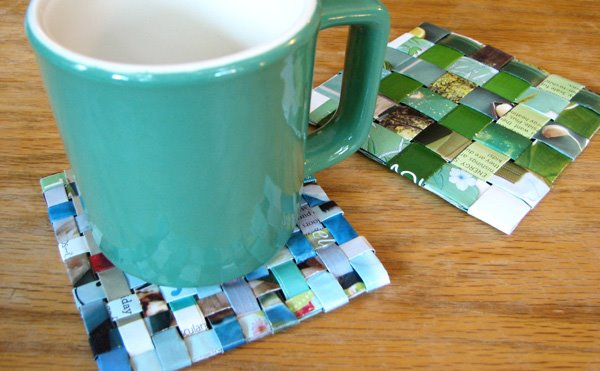 DIY Magazine Coaster.