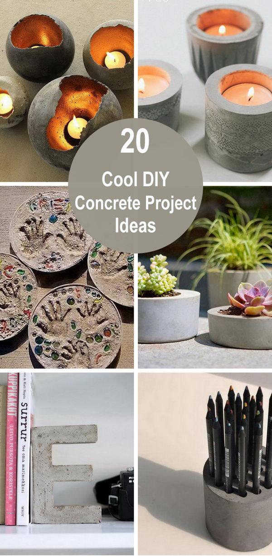 20 Cool DIY Concrete Project Ideas.