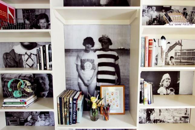 Family Photo Bookshelf.