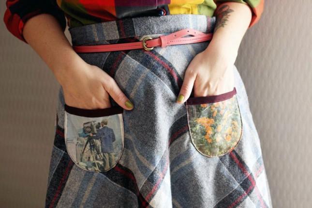 Fabric Photo Pockets.