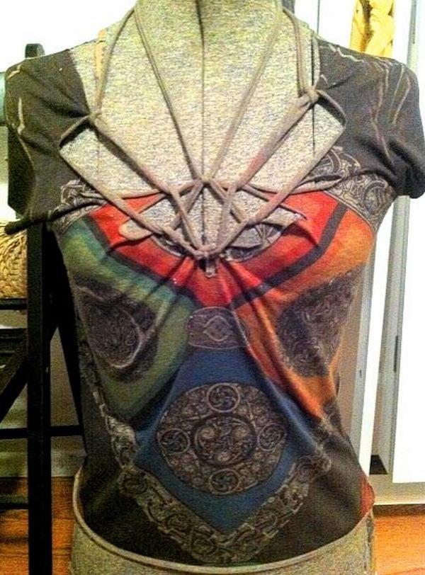 DIY T Shirt Cut.