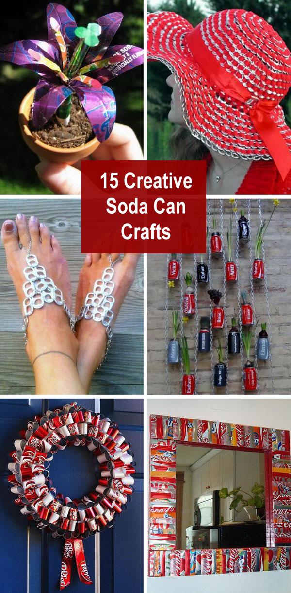 Creative Soda Can Crafts.