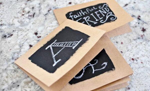 DIY Chalkboard Cards.