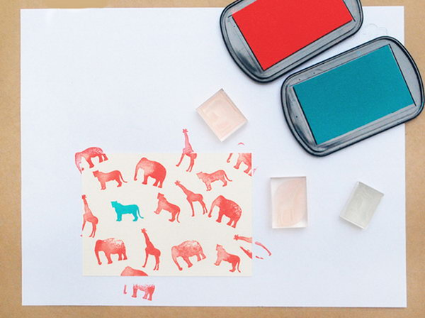 Animal Stamped Cards.