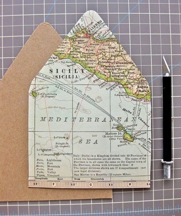 Travel Map Card.