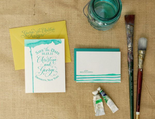 Watercolored Thank You Cards.