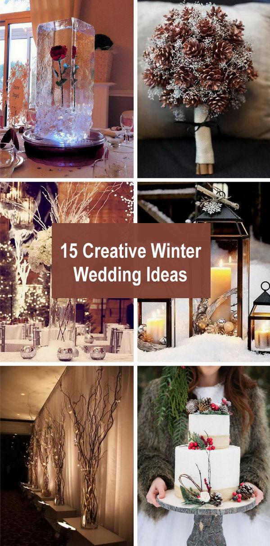 15 Creative Winter Wedding Ideas.