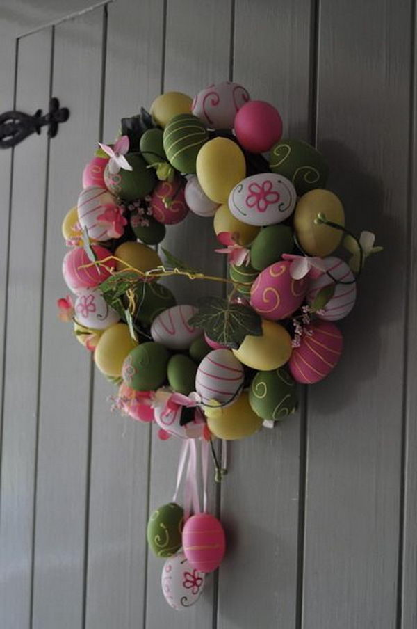 Instead of buying colored eggs from stores, it is always fun to create your own Easter egg craft at home with your family. Use your creativity and try one of them.
