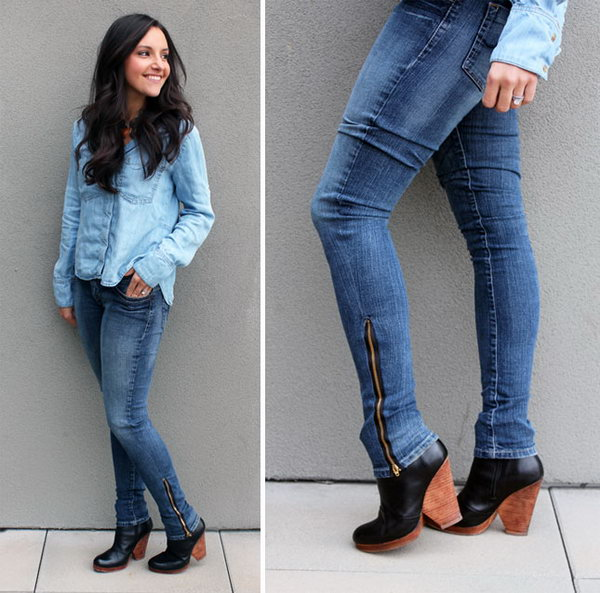 Turn Bootcut Jeans into Skinny Jeans,