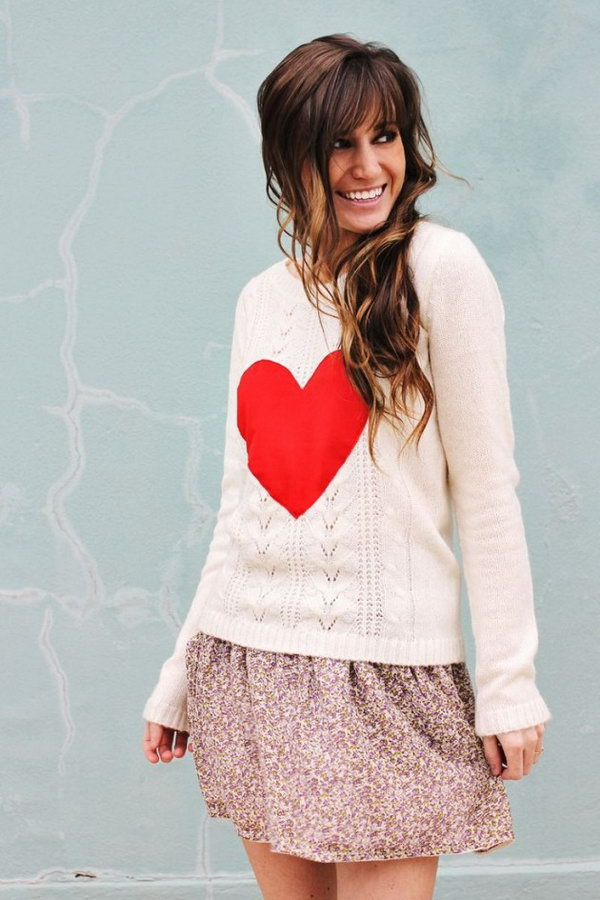 DIY Heart Sweater,