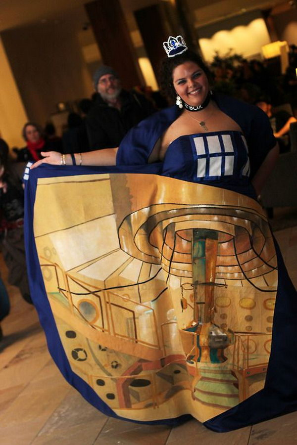 This Doctor Who inspired TARDIS dress is so amazing, and it comes complete with the TARDIS control room.
