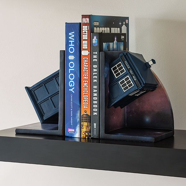 With the galaxy depicted all around the TARDIS, this bookends adds something interesting to your bookshelves.