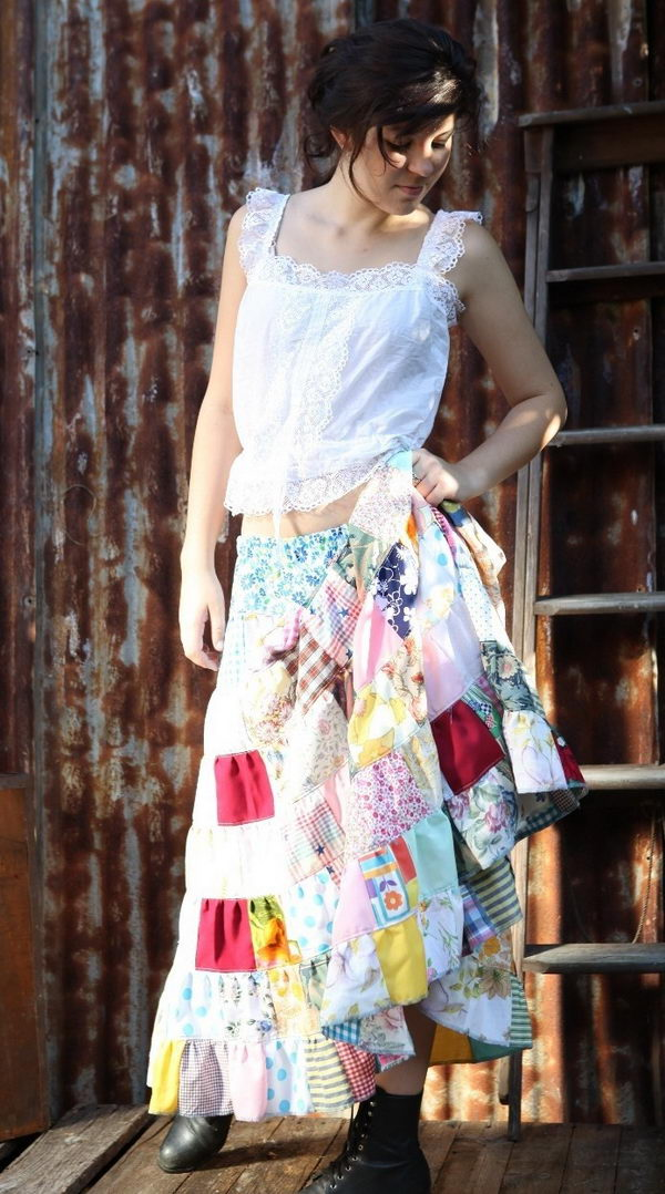 Handmade Gypsy Skirt. Do something new today that will be fashionable all summer.
