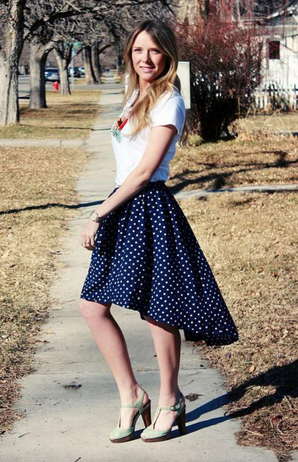 Handmade Girl Skirt. Do something new today that will be fashionable all summer.