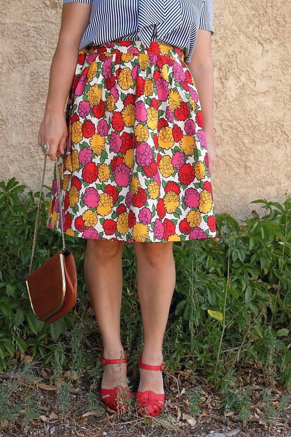 Homemade Wrap Skirt. Do something new today that will be fashionable all summer.