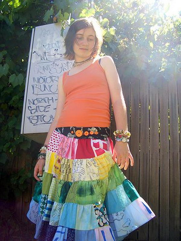 Colorful Skirt. Do something new today that will be fashionable all summer.