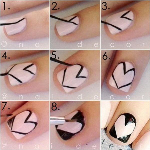 Heart Nail Art Tutorial,