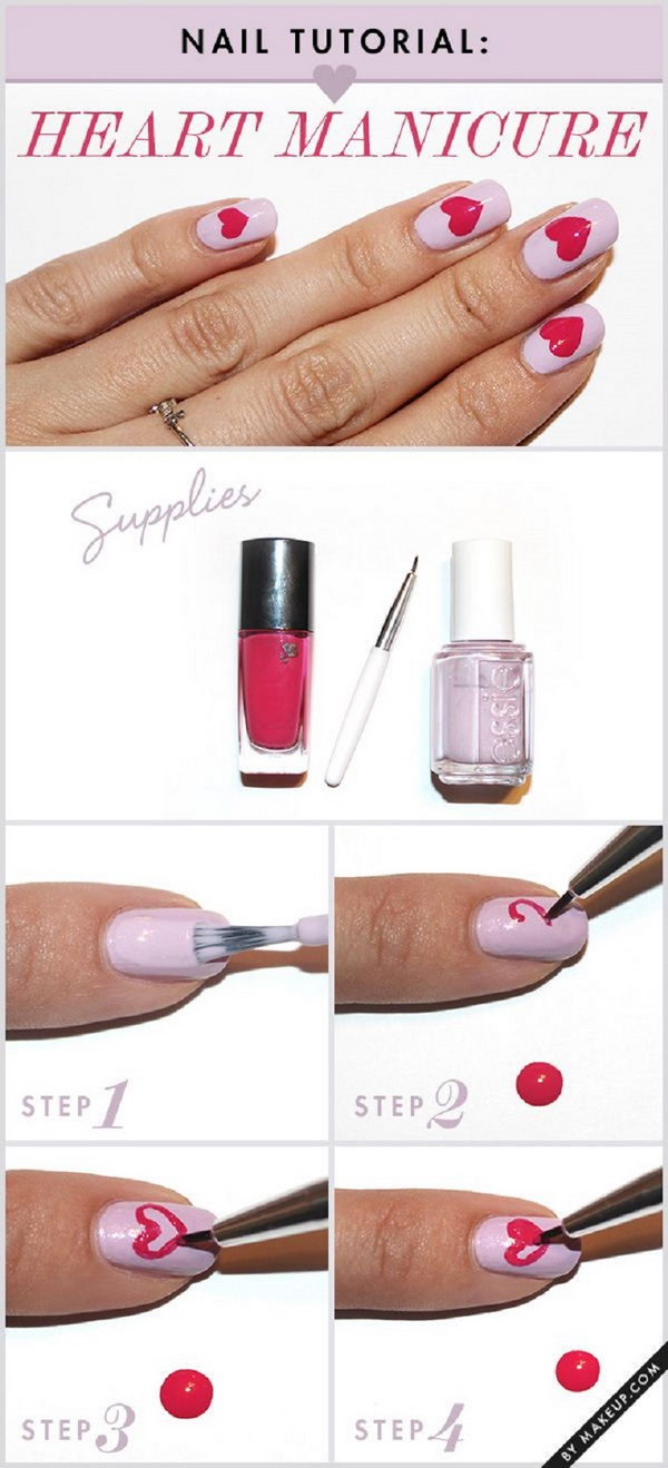 Heart Manicure Tutorial,