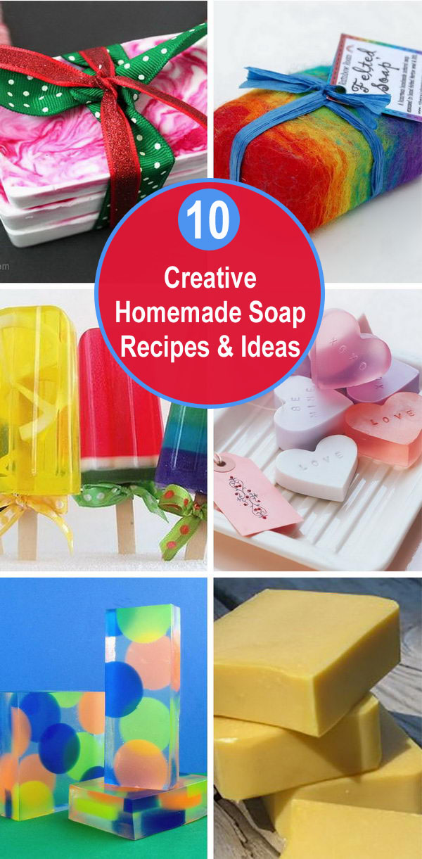 10 Creative Homemade Soap Recipes and Ideas.
