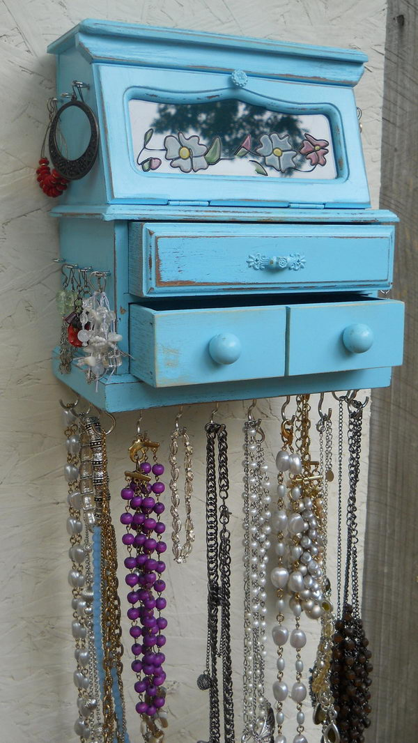 Hanging Jewelry Box.