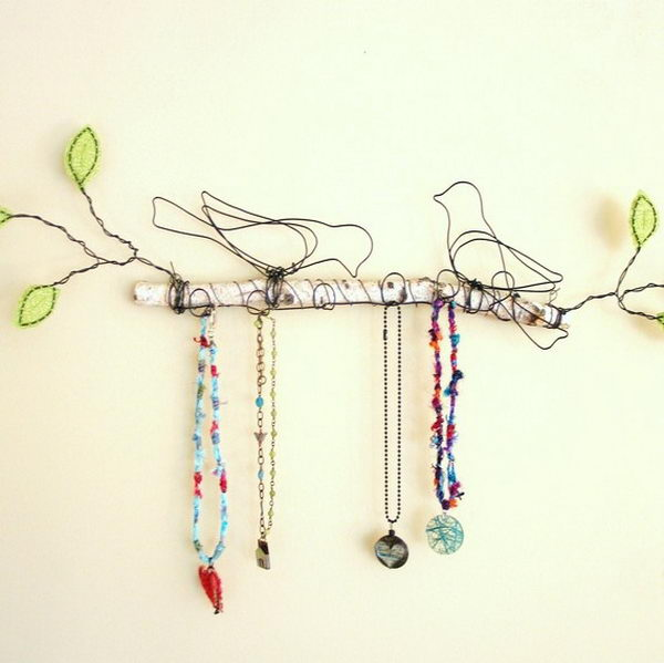 Bird Branch Jewelry Display.