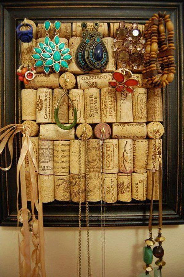 Wine Cork Frame Jewelry Holder.