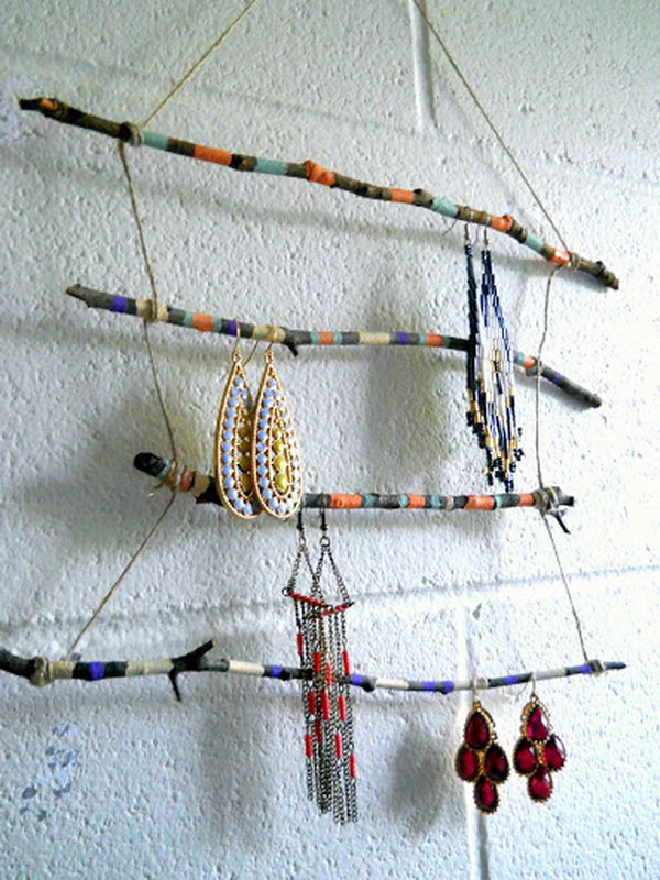 Twig Jewelry Display Rack,