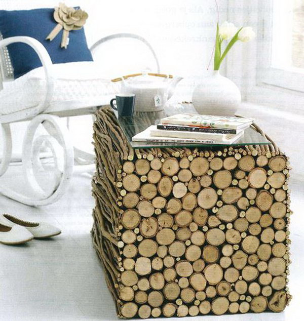 DIY Project with Twigs and Wood,
