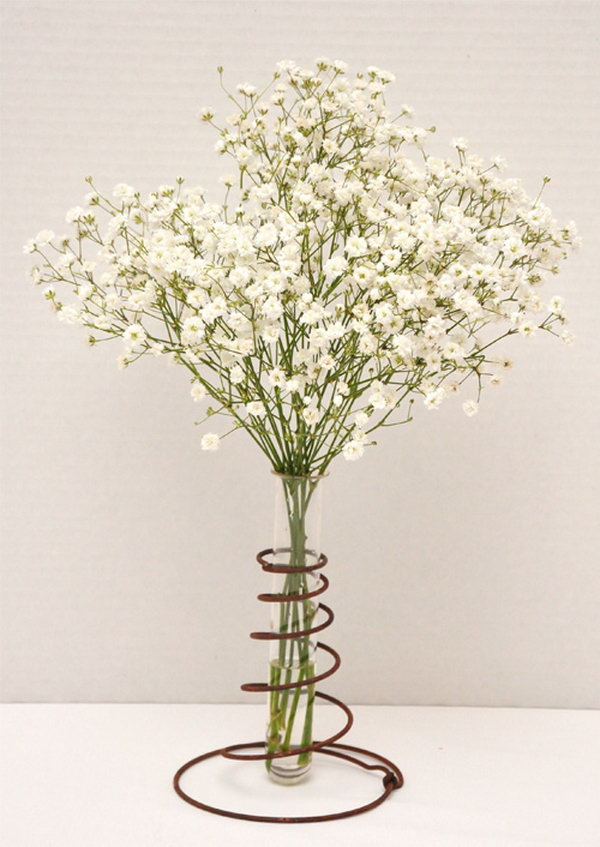 DIY Vase Made From Old Rusty Bed Spring,