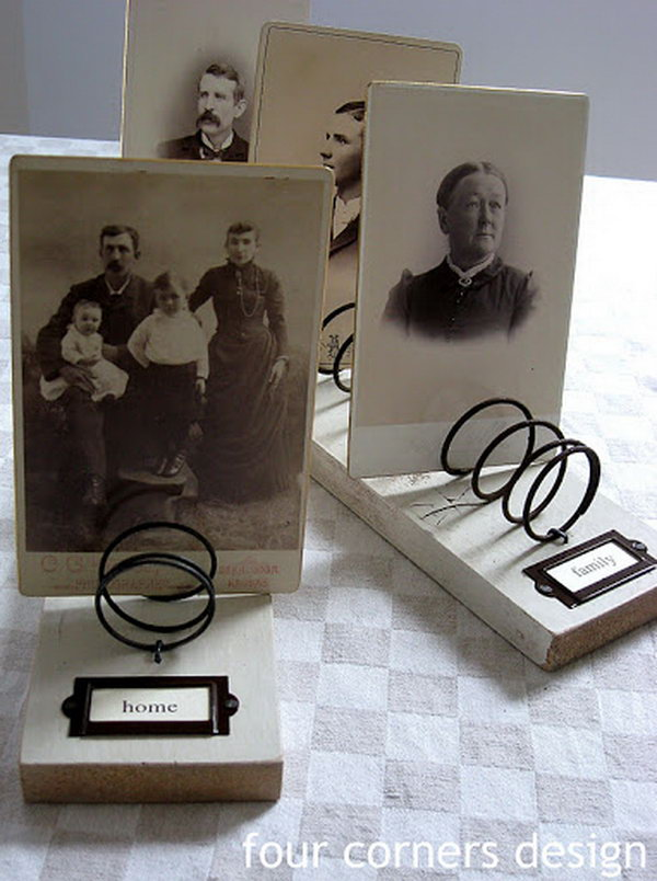 Photo Display with Rusty Old Springs,