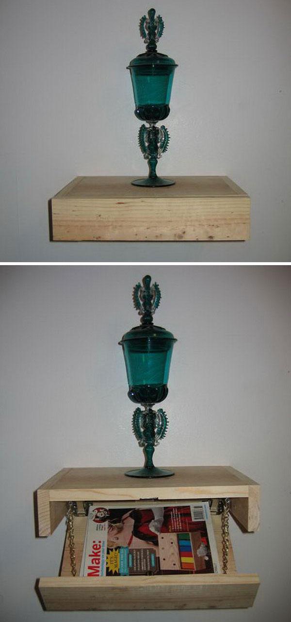 Floating Shelf with Secret Storage,