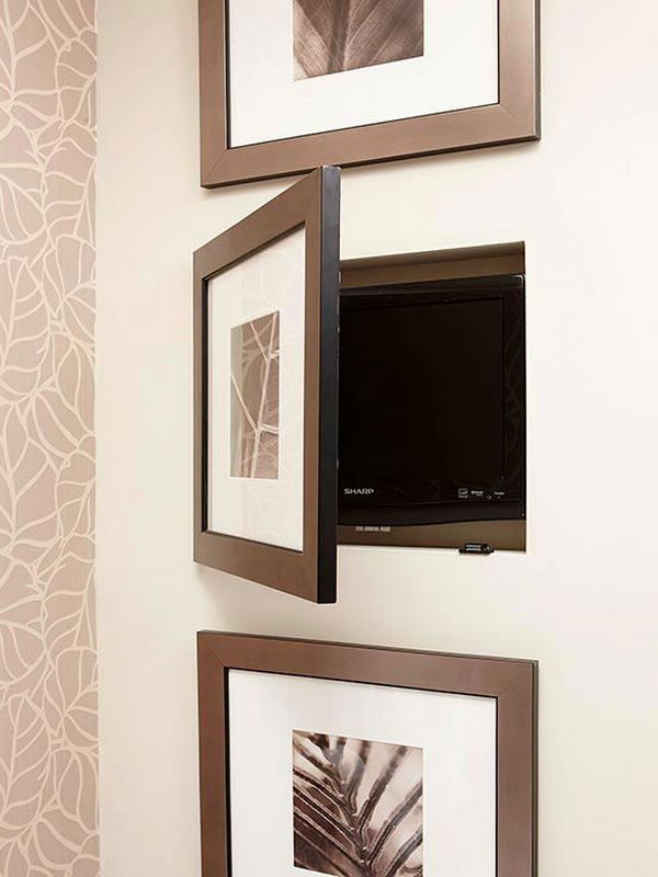 20 clever hidden storage ideas styletic - Bathroom mirror with hidden storage ...