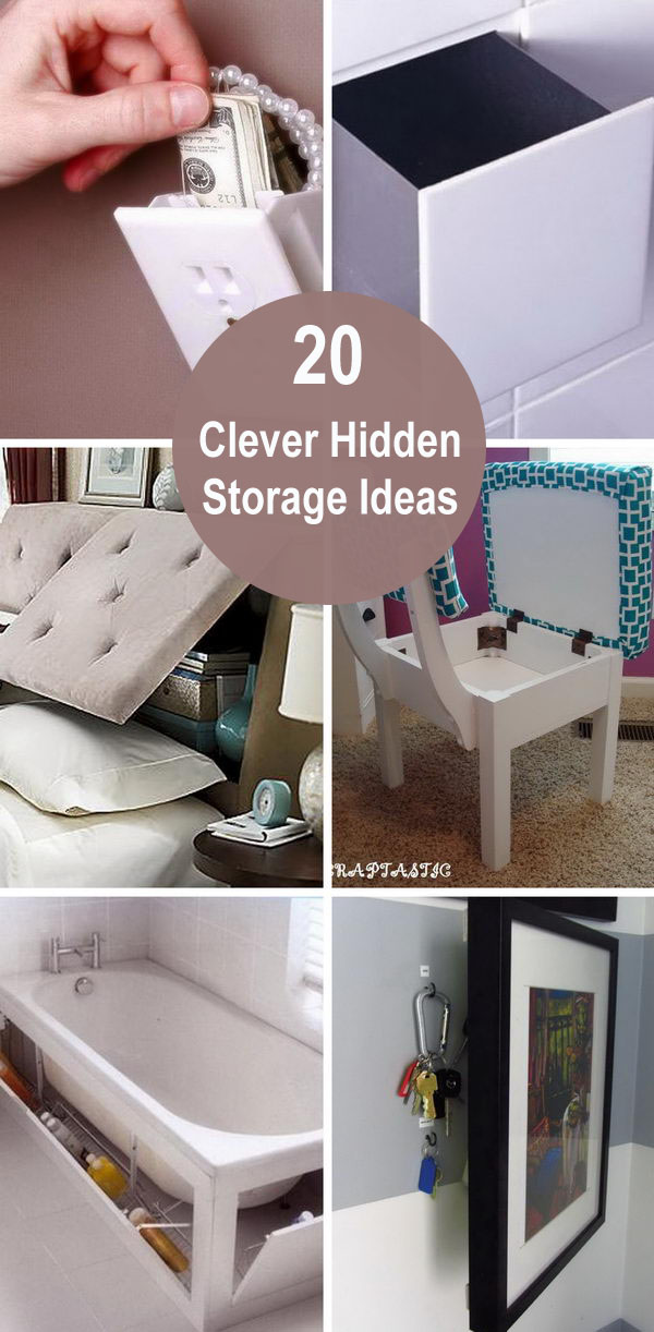 20 Clever Hidden Storage Ideas.