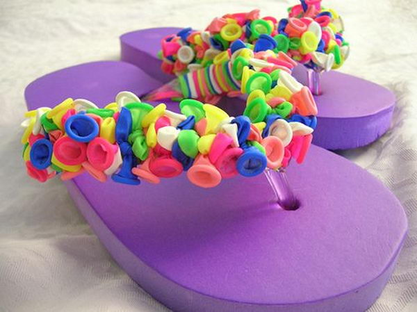 DIY Flip Flop Ideas. Fun, creative and easy to make.