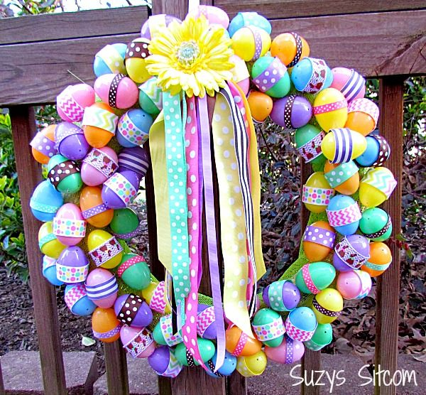 Apply these colorful eggs into a wreath and use some ribbons to decorate it. It will definitely light up your Easter festival.