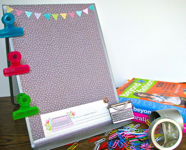 Paper and Book Holder Makeover. This item has plenty of uses and can make for a wonderful present for almost anyone, especially for teachers. Moreover it can be personalized to accommodate user's preferences.